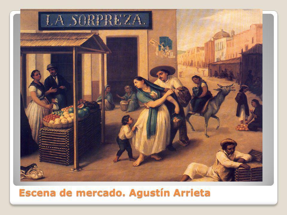 Escena de mercado. Agustín Arrieta