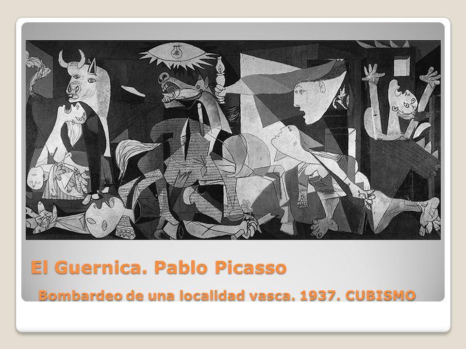 El Guernica. Pablo Picasso Bombardeo de una localidad vasca. 1937. CUBISMO