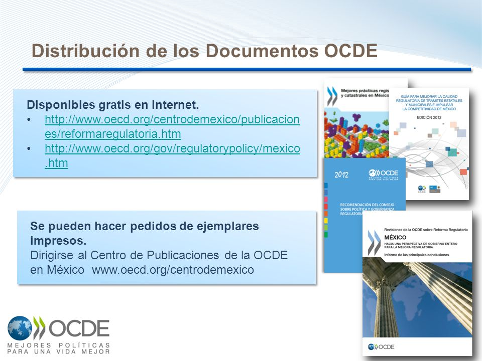 12 Distribución de los Documentos OCDE Disponibles gratis en internet.