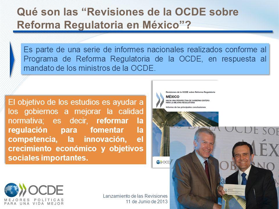 2 Es parte de una serie de informes nacionales realizados conforme al Programa de Reforma Regulatoria de la OCDE, en respuesta al mandato de los minis