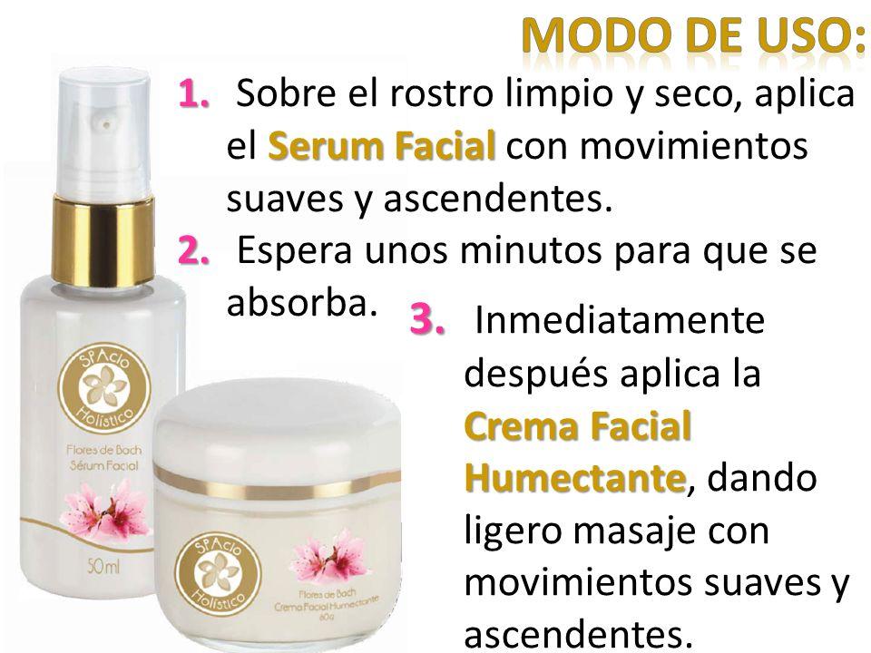 3. Crema Facial Humectante 3. Inmediatamente después aplica la Crema Facial Humectante, dando ligero masaje con movimientos suaves y ascendentes.