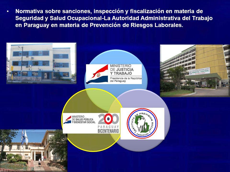 Normativa sobre sanciones, inspección y fiscalización en materia de Seguridad y Salud Ocupacional-La Autoridad Administrativa del Trabajo en Paraguay