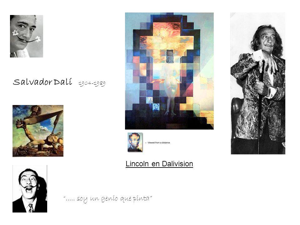 Salvador Dalí 1904-1989 Lincoln en Dalivision..... soy un genio que pinta