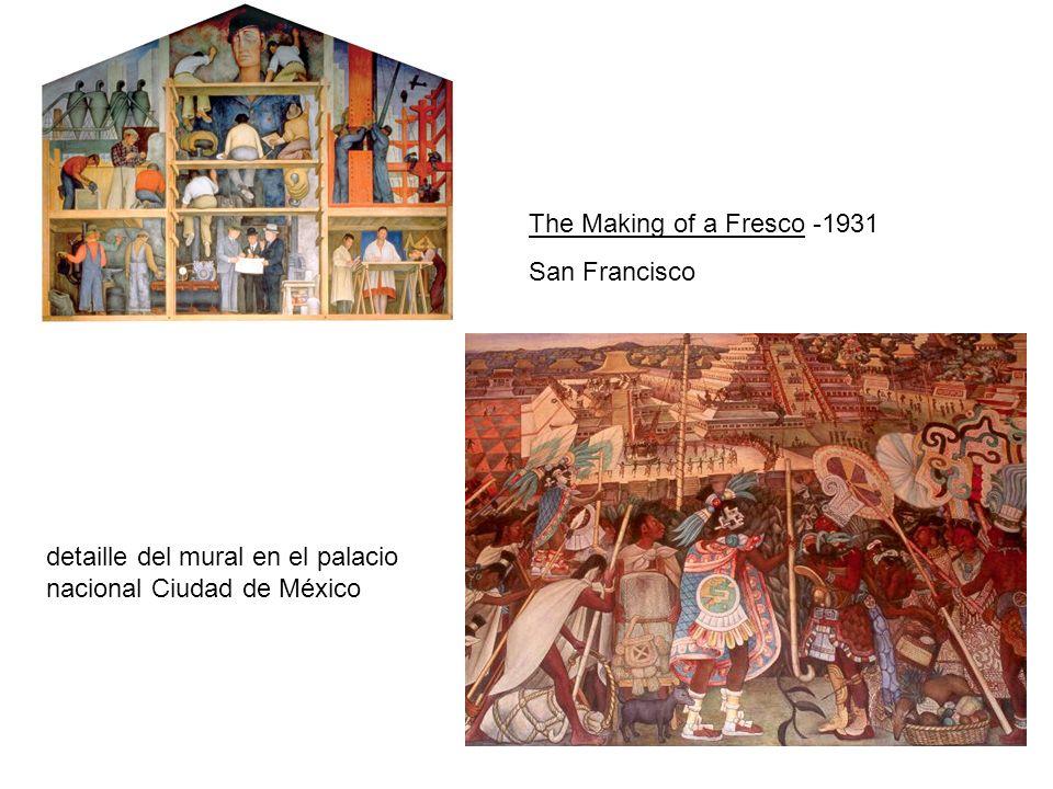 The Making of a Fresco -1931 San Francisco detaille del mural en el palacio nacional Ciudad de México