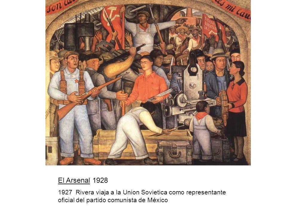 El Arsenal 1928 1927 Rivera viaja a la Union Sovietica como representante oficial del partido comunista de México