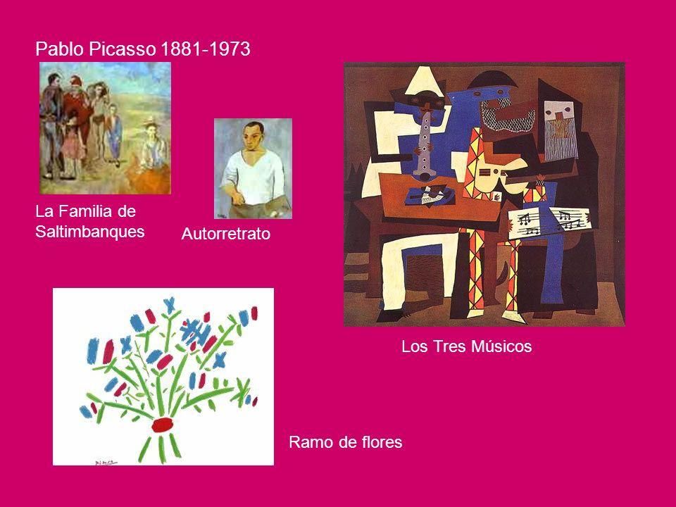 Pablo Picasso 1881-1973 La Familia de Saltimbanques Autorretrato Los Tres Músicos Ramo de flores