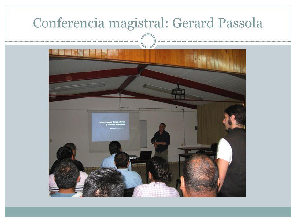 Conferencia magistral: Gerard Passola