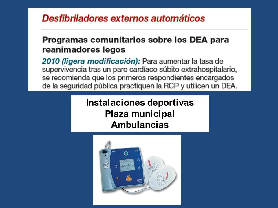 Instalaciones deportivas Plaza municipal Ambulancias