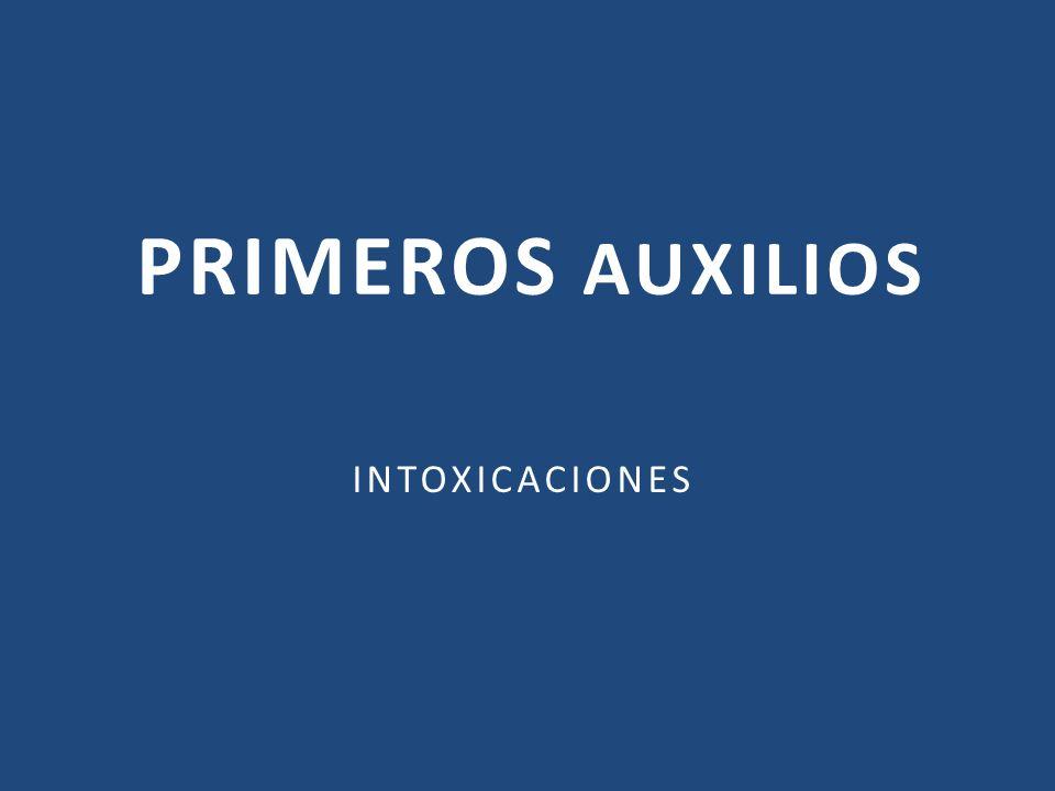 PRIMEROS AUXILIOS INTOXICACIONES