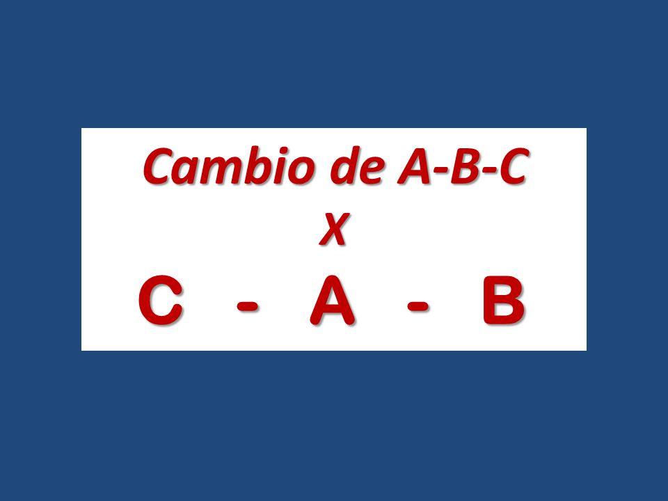 Cambio de A-B-C X C - A - B