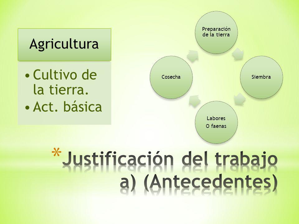 Agricultura Cultivo de la tierra. Act.