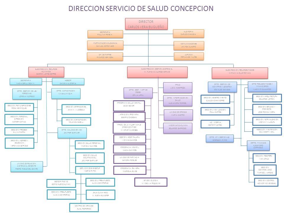 DIRECCION SERVICIO DE SALUD CONCEPCION DIRECTOR CARLOS VERA BUGUEÑO DIRECTOR CARLOS VERA BUGUEÑO SUBDIRECCION RECURSOS HUMANOS GASTON LOPEZ CORTES SUB