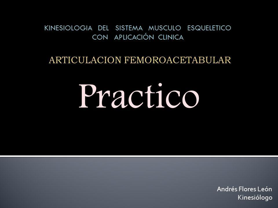 Andrés Flores León Kinesiólogo Practico Practico KINESIOLOGIA DEL SISTEMA MUSCULO ESQUELETICO CON APLICACIÓN CLINICA