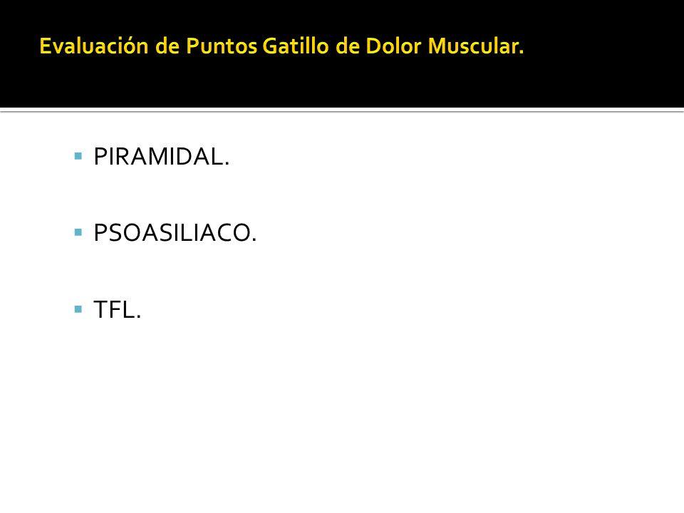 PIRAMIDAL. PSOASILIACO. TFL.