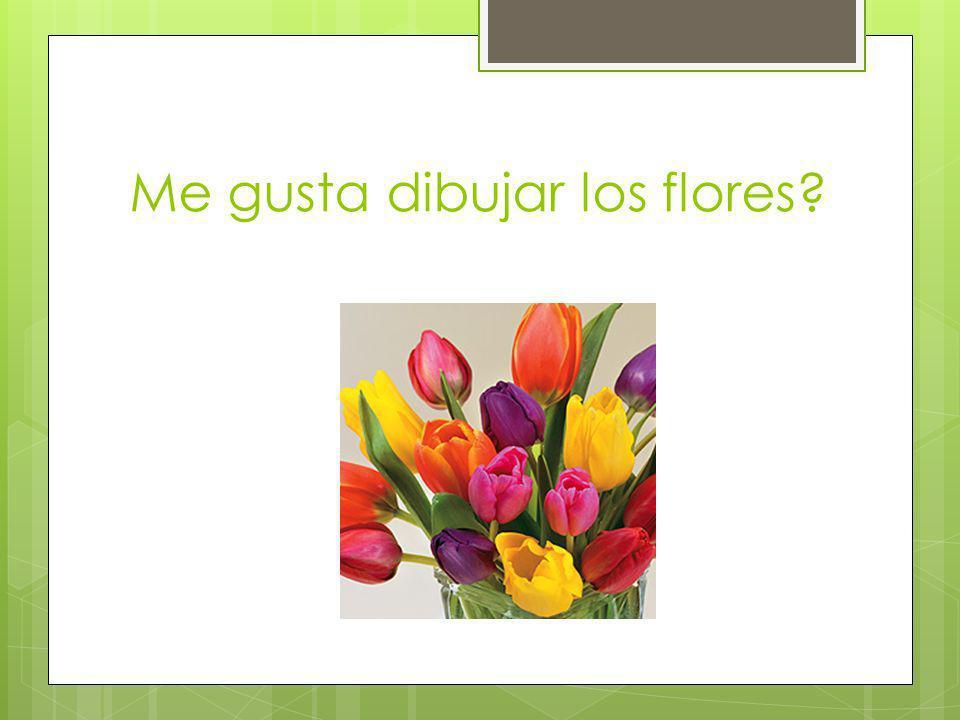 Me gusta dibujar los flores?