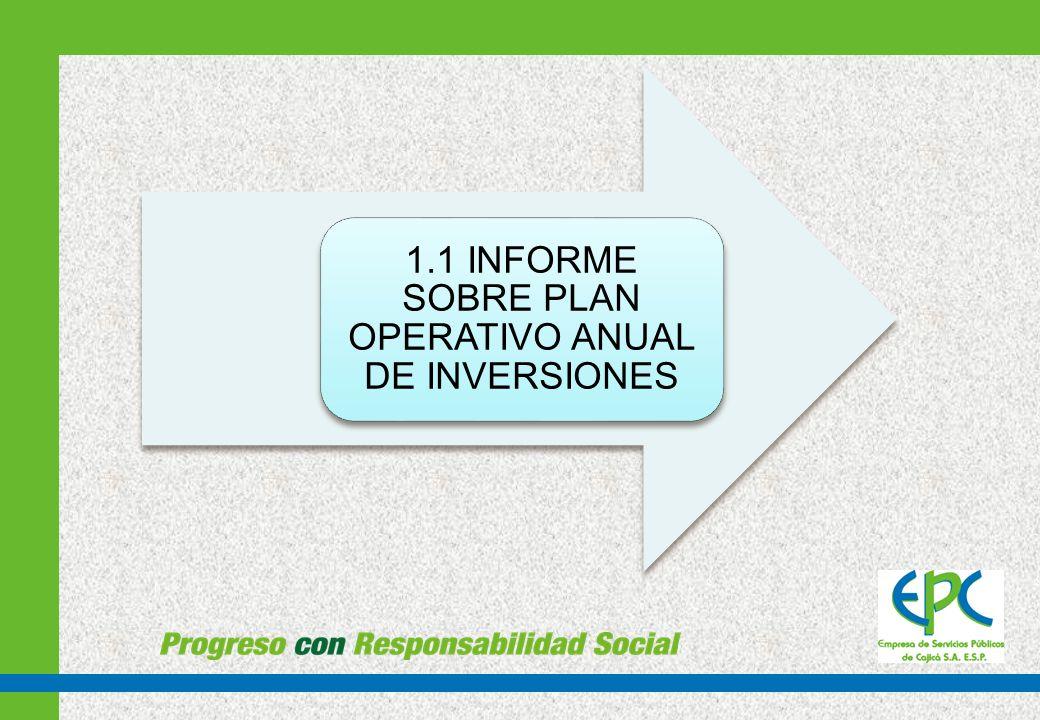 EJECUCIÓN PLAN OPERATIVO DE INVERSIONES 2012 CARACTERISTICASOBJETOVALOR REPOSICION RED ALCANTARILLADO 12 ML EN EL SECTOR SAN PEDRO ENTRADA DEL BARRIO CAPELLANIA ADELANTAR ACTIVIDADES DE PERFORACION DE UN DUCTO DE 315 mm (12 ) CON PERFORACION HORIZONTAL DIRIGIDA EN 12 ML DE LONGITUD Y SUMINISTRO DE 12 DE TUBO PAD 10, 315 mm, EN LA ENTRADA DE CAPELLANIA SECTOR SAN PEDRO.