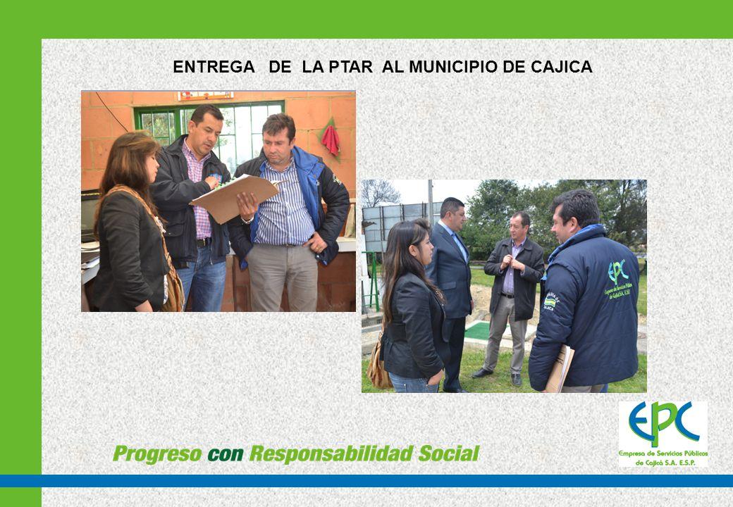 FUNCIONAMIENTO Y OPERACIÓN ACTUAL DE LA PTAR La PTAR esta siendo operada parcialmente por la Empresa de Servicios Públicos de Cajicá S.A.