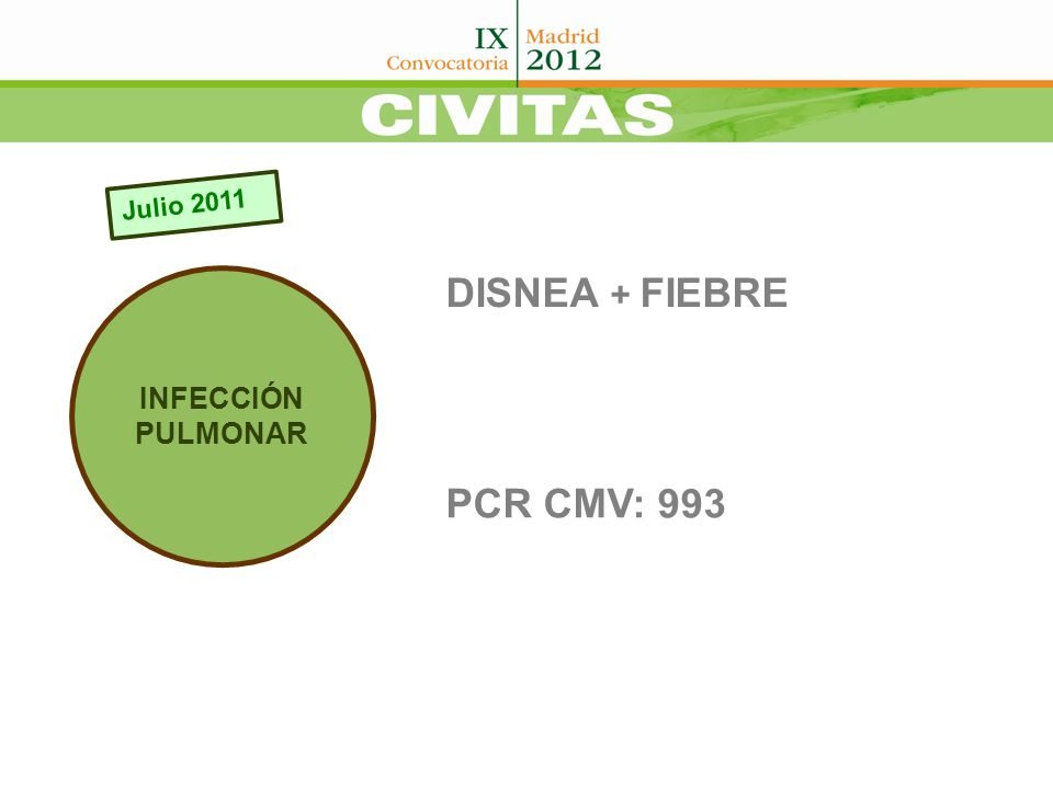 FONDO DE OJO Compatible con retinitis bilateral por CMV FOSCARNET+ IG G ESPECÍFICA