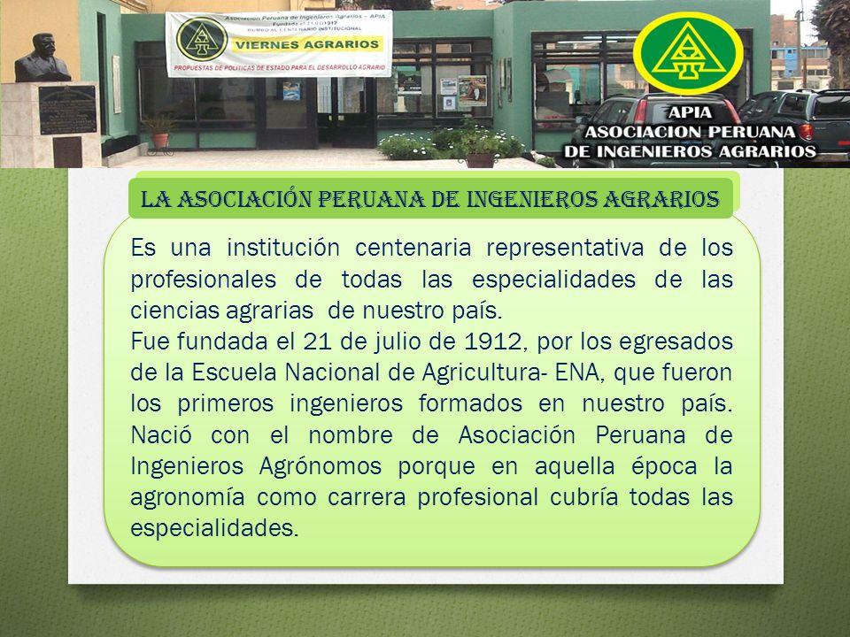 Es una institución centenaria representativa de los profesionales de todas las especialidades de las ciencias agrarias de nuestro país.