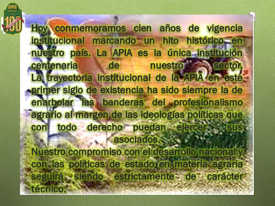 Con el surgimiento de nuevas carreras profesionales especializadas y de nuevas universidades formadoras de profesionales en ciencias agrarias la institución renovó sus estatutos abriendo sus puertas a todos los profesionales del agro nacional con el nombre de Asociación Peruana de Ingenieros Agrarios.