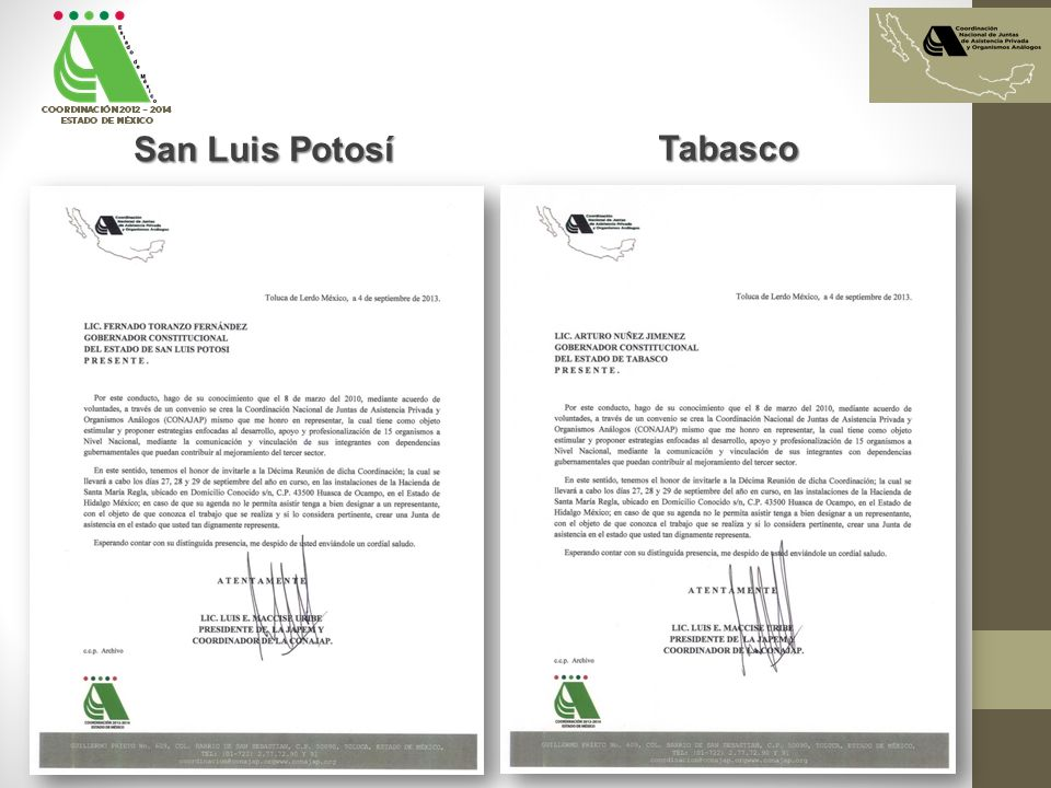 San Luis Potosí Tabasco