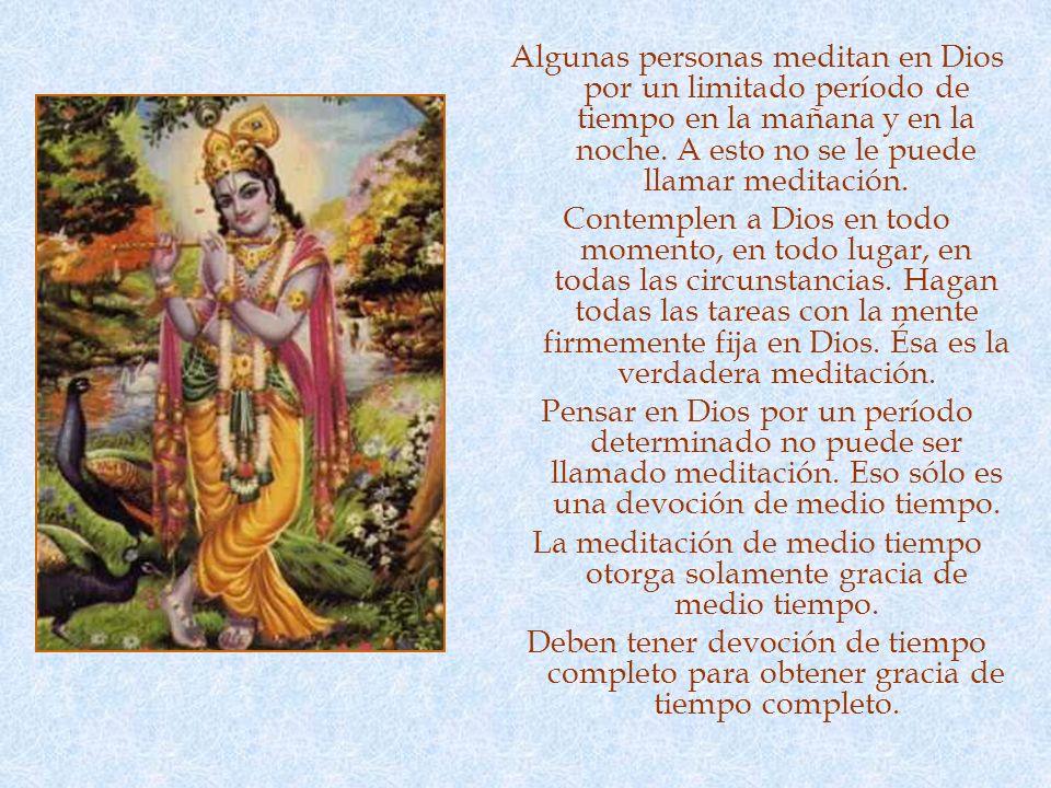MEDITACIÓN La séptima es la flor de dhyana (meditación). Meditación no es sentarse en padmasana (con las piernas entrelazadas) con los ojos cerrados e