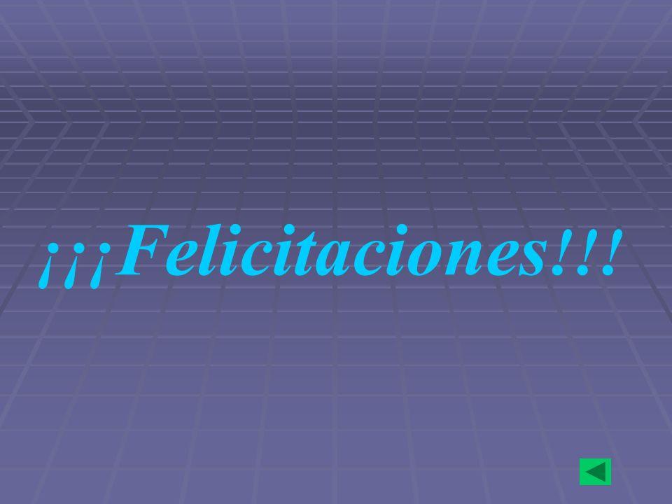 ¡¡¡ Felicitaciones !!!