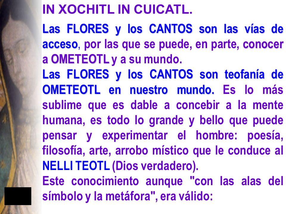 IN XOCHITL IN CUICATL.