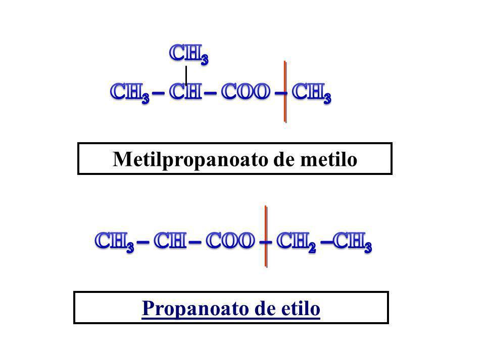 Metilpropanoato de metilo Propanoato de etilo