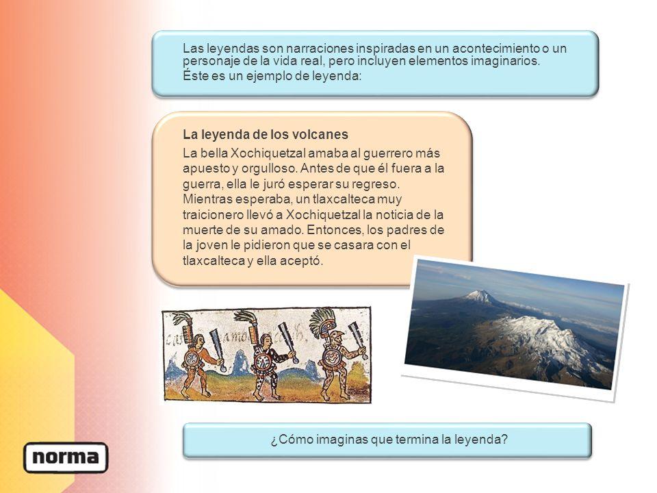 La leyenda de los volcanes La bella Xochiquetzal amaba al guerrero más apuesto y orgulloso. Antes de que él fuera a la guerra, ella le juró esperar su