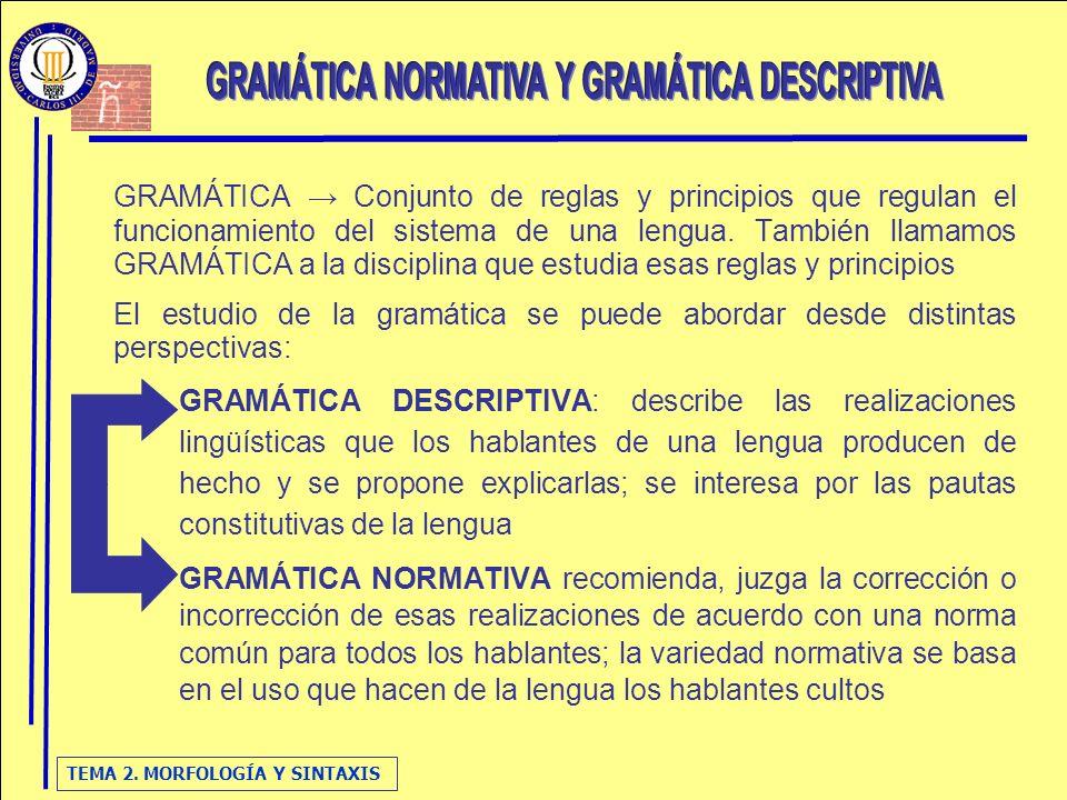 gramatica descriptiva de la lengua: