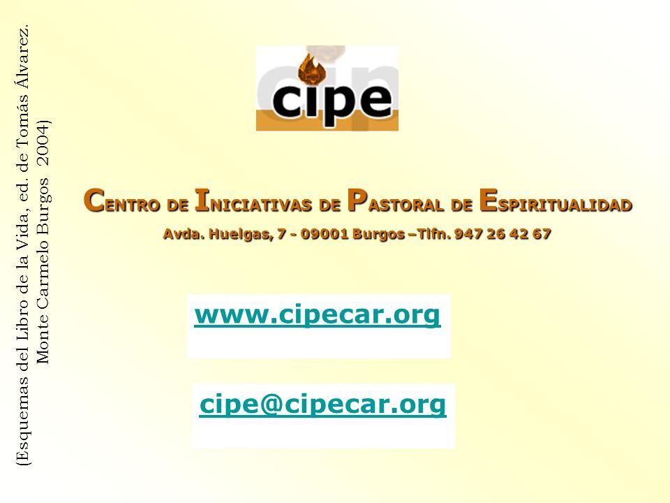 C ENTRO DE I NICIATIVAS DE P ASTORAL DE E SPIRITUALIDAD Avda. Huelgas, 7 - 09001 Burgos –Tlfn. 947 26 42 67 www.cipecar.org cipe@cipecar.org (Esquemas