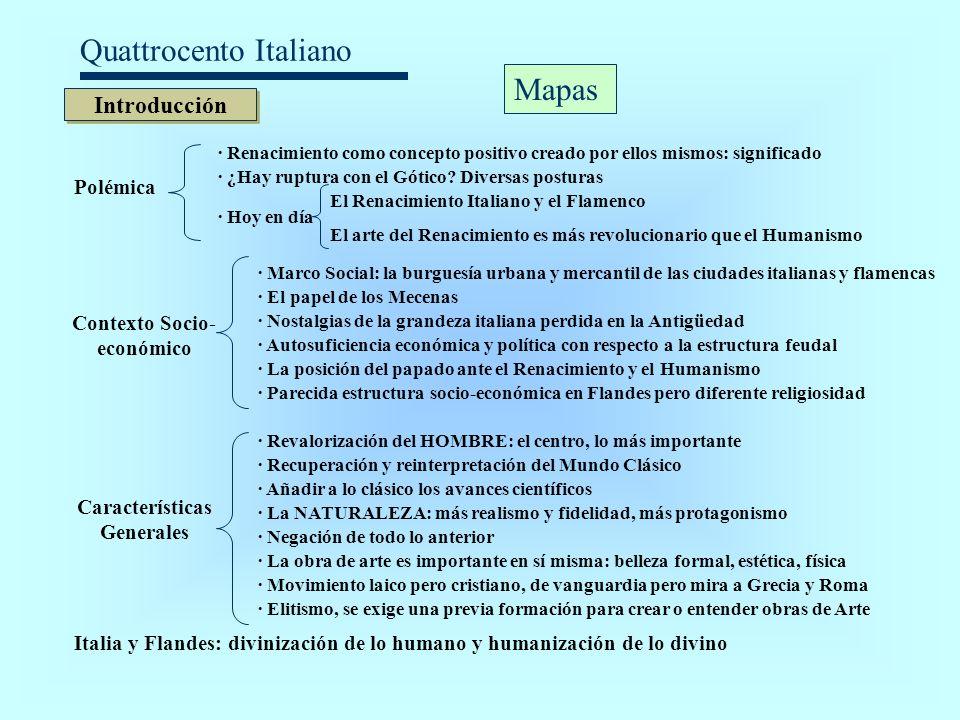 Quattrocento Italiano Introducción Polémica · Renacimiento como concepto positivo creado por ellos mismos: significado · ¿Hay ruptura con el Gótico? D