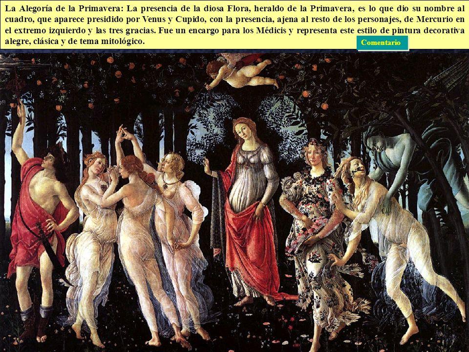 Quattrocento Italiano Pintura: Botticelli · De finales del XV, representa la versión decorativa y menos comprometida del renacimiento. Pintura cortesa