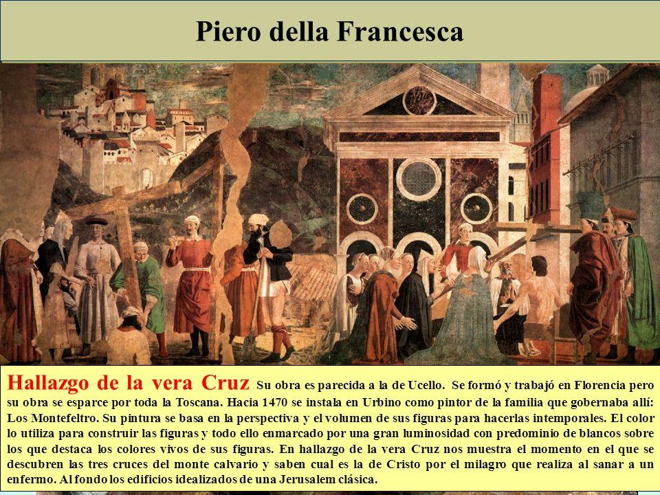 Quattrocento Italiano Pintura: Mantegna · Obsesionado por la profundidad, va un paso más allá y la busca no con líneas de perspectiva sino con la mism