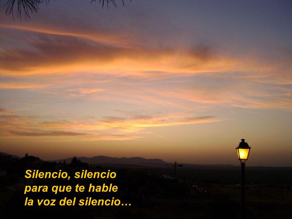 Cuando el silencio de la luz de Dios habla, tu vida se llena de la transparencia de Dios.