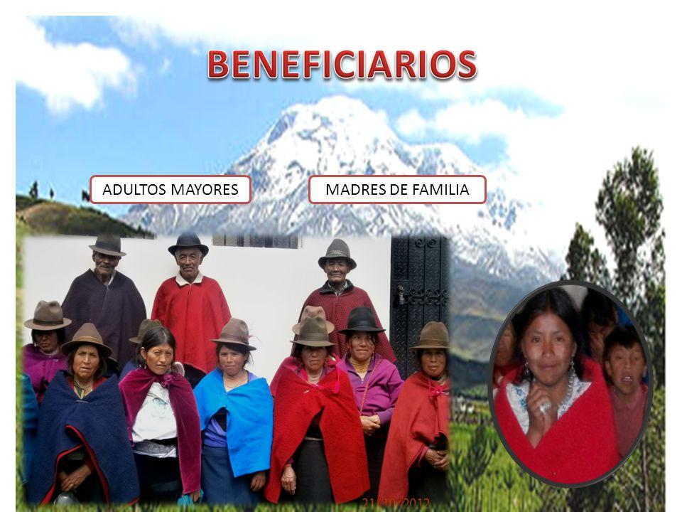 ADULTOS MAYORESMADRES DE FAMILIA