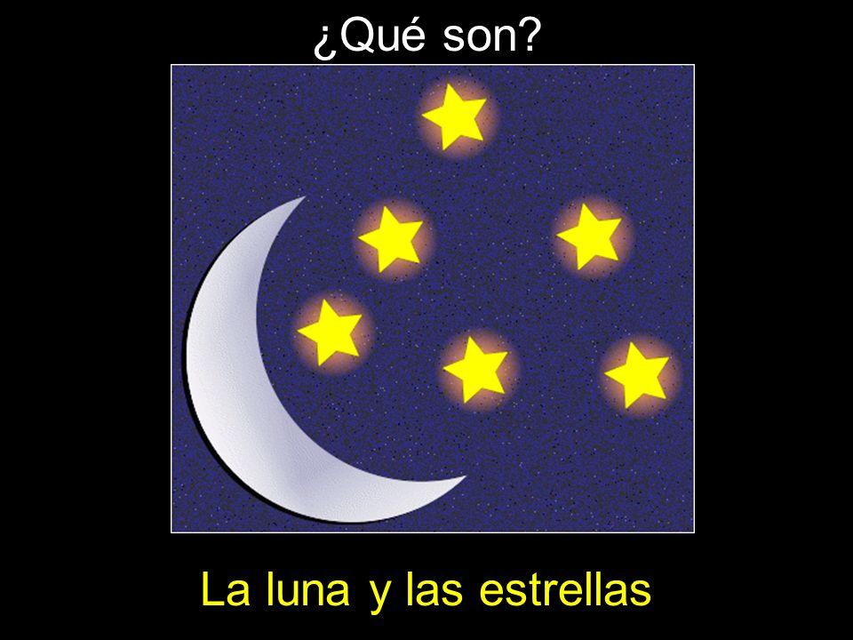 ¿Qué son? La luna y las estrellas
