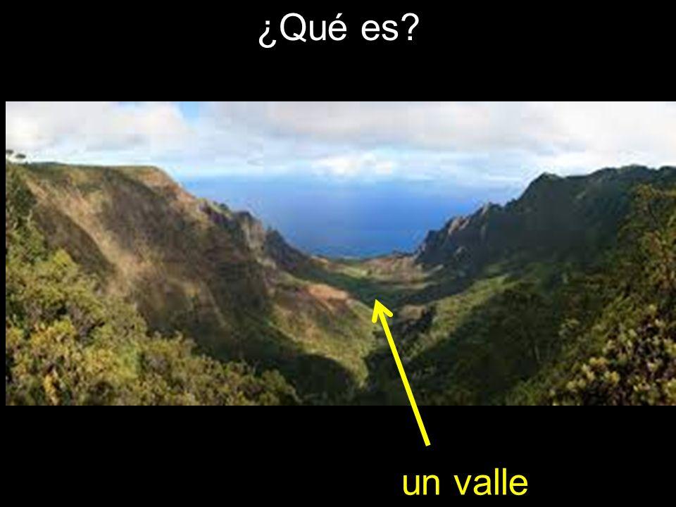 ¿Qué es? un valle