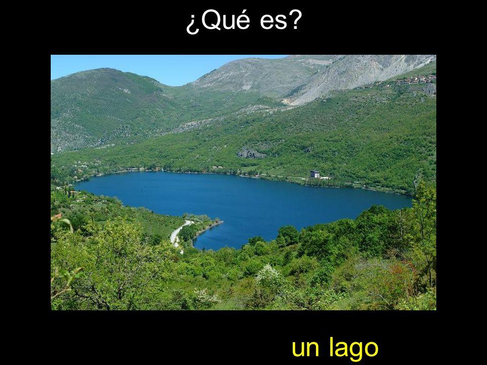 ¿Qué es? un lago