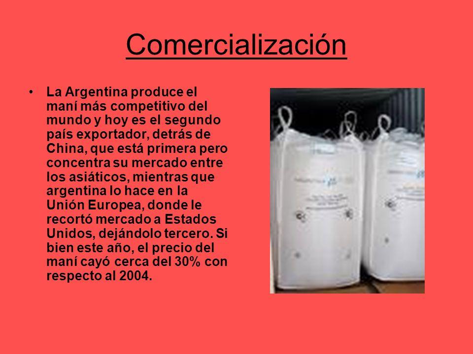 Comercialización La Argentina produce el maní más competitivo del mundo y hoy es el segundo país exportador, detrás de China, que está primera pero co