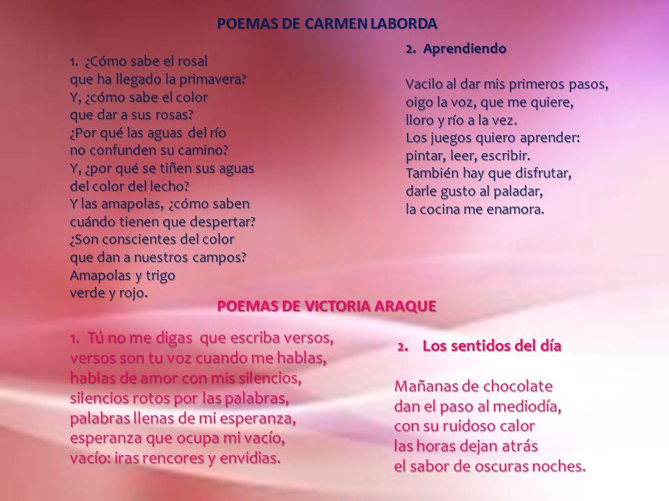 POEMAS DE CARMEN LABORDA POEMAS DE CARMEN LABORDA 1.