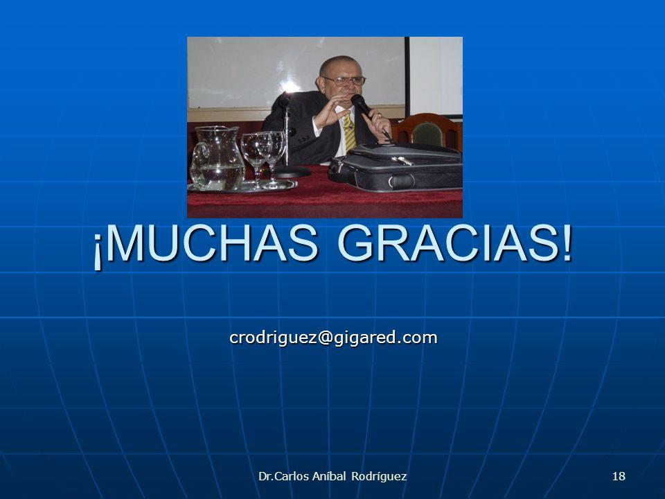 ¡MUCHAS GRACIAS! Dr.Carlos Aníbal Rodríguez18 crodriguez@gigared.com