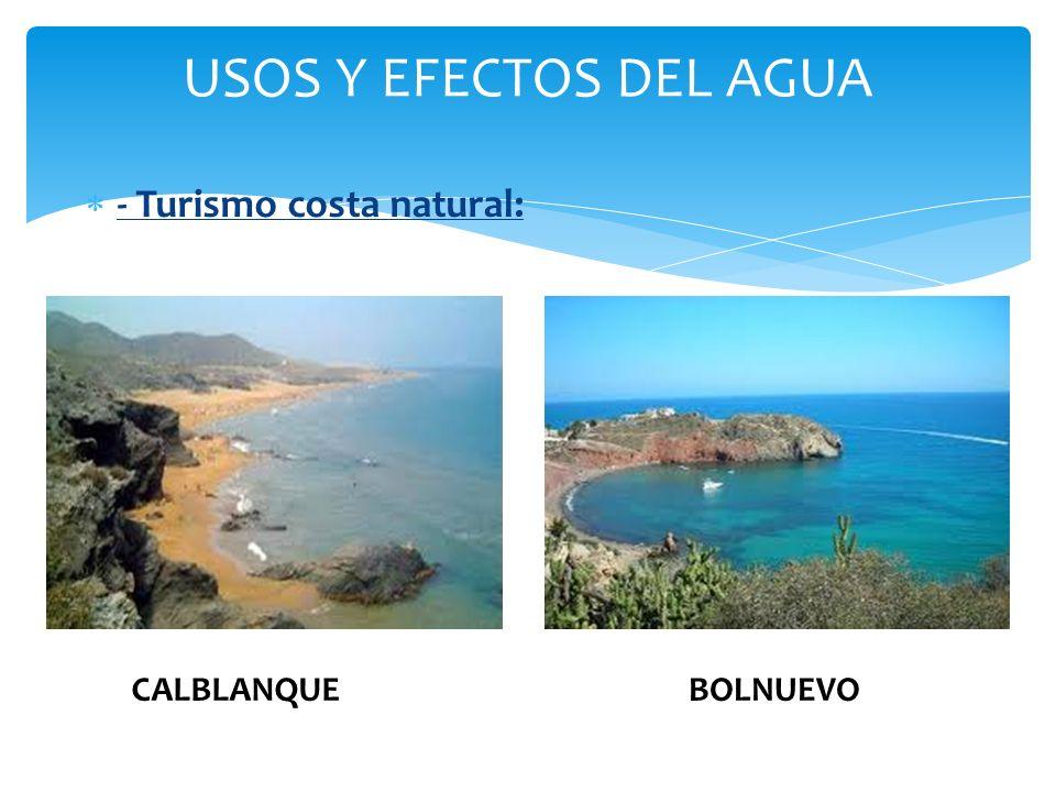 USOS Y EFECTOS DEL AGUA - Turismo costa natural: CALBLANQUEBOLNUEVO