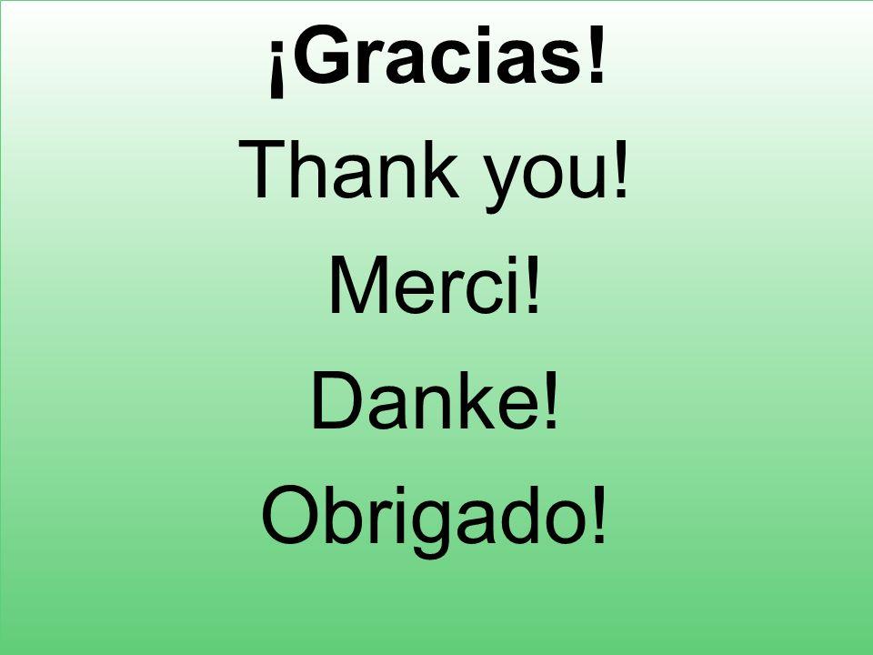 ¡Gracias! Thank you! Merci! Danke! Obrigado!