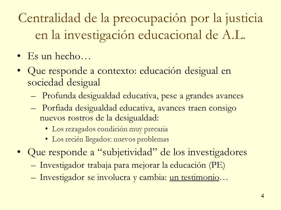 35 III. Hacia una educación más justa: pistas y propuesta