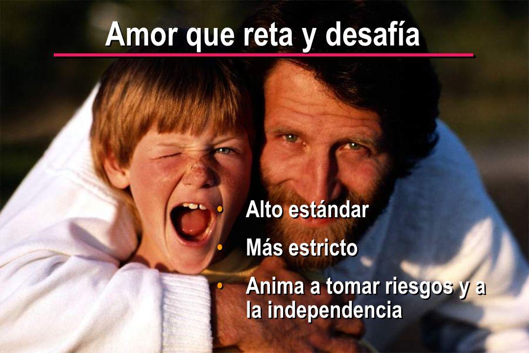 © IEF 11 PRE 1.2.1s Amor que reta y desafía Alto estándar Más estricto Anima a tomar riesgos y a la independencia