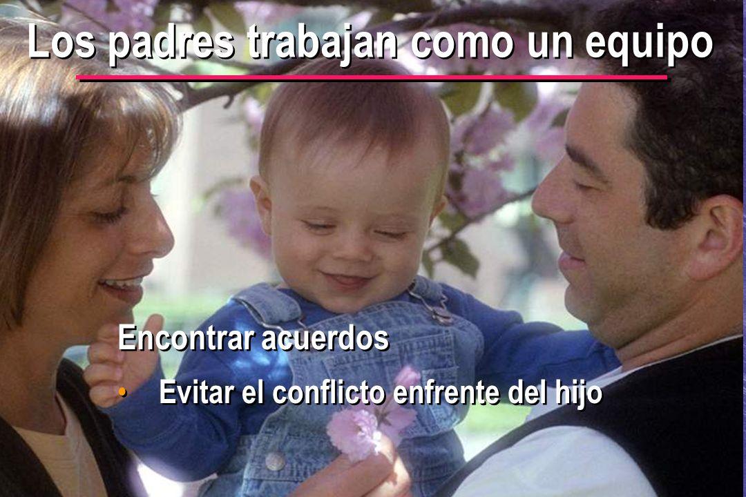 © IEF 13 PRE 1.2.1s Los padres trabajan como un equipo Encontrar acuerdos Evitar el conflicto enfrente del hijo Encontrar acuerdos Evitar el conflicto