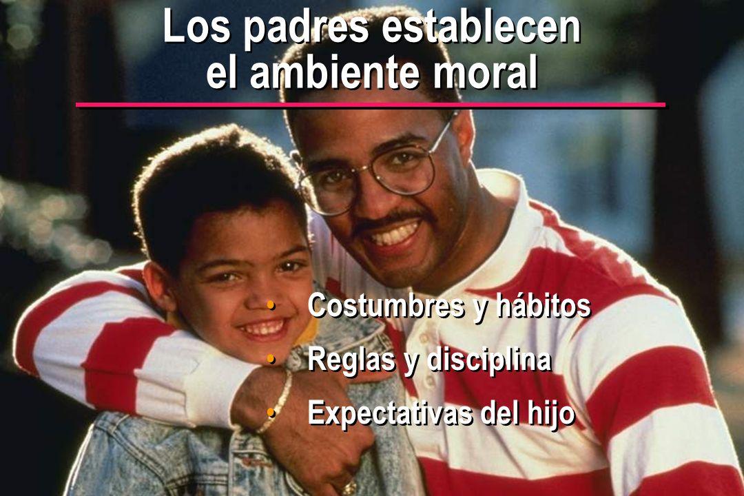 © IEF 24 PRE 1.2.1s Los padres establecen el ambiente moral Costumbres y hábitos Reglas y disciplina Expectativas del hijo Costumbres y hábitos Reglas