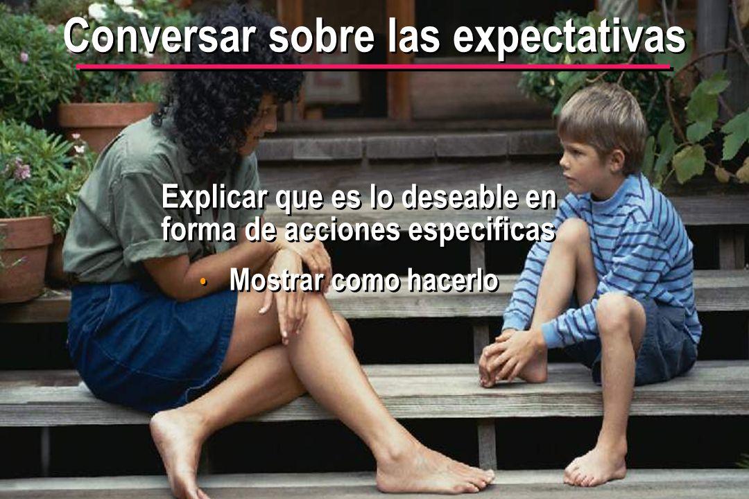 © IEF 36 PRE 1.2.1s Conversar sobre las expectativas Explicar que es lo deseable en forma de acciones especificas Mostrar como hacerlo
